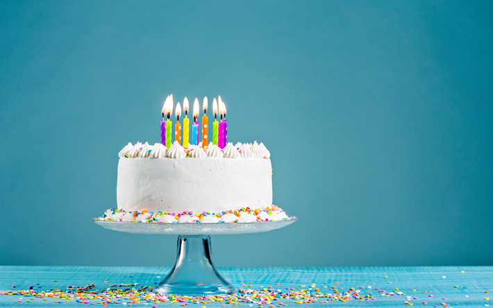 Download Wallpapers Happy Birthday Cake Candles