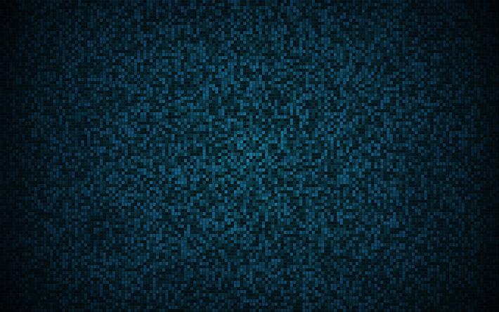 Scarica sfondi pixel blu texture blu piazze texture sfondo pixel
