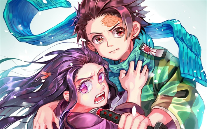 Download Wallpapers Tanjirou Kamado Nezuko Kamado Manga