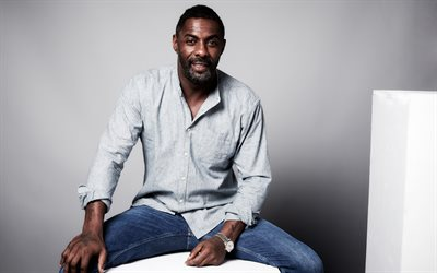 Idris Elba, British actor, photoshoot, famous actors, smile, portrait, Idrissa Akuna Elba