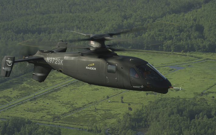 Sikorsky S-97 Raider, American attack helicopter, combat helicopters, USA, Sikorsky Aircraft