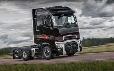 Renault T High Edition, 4k, tuning, 2019 trucks, LKW, two trucks, semi-trailer truck, tractor, commercial vehicles, 2019 Renault T, trucks, Renault
