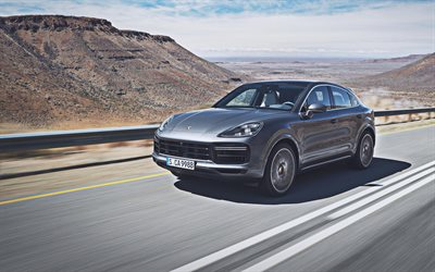 Porsche Cayenne Turbo Coupe, 4k, road, 2019 cars, supercars, 2019 Porsche Cayenne Coupe, german cars, Porsche