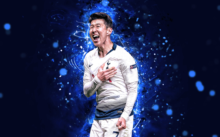 Download Wallpapers 4k, Son Heung-min, White Uniform