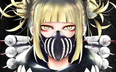 Himiko Toga, girl in mask, female villain, My Hero Academia, Boku no Hero Academia, manga, Toga Himiko