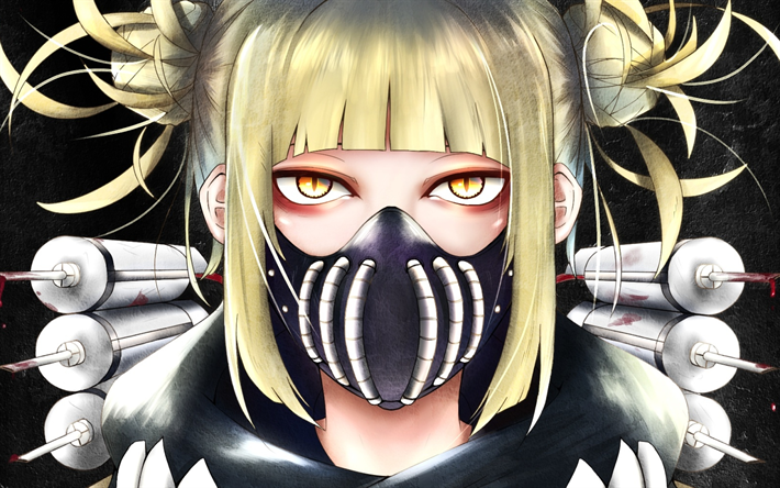Download Wallpapers Himiko Toga Girl In Mask Female
