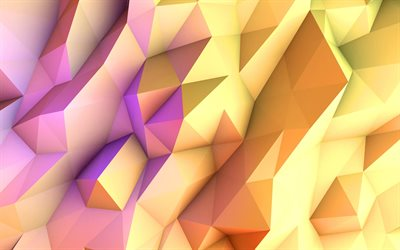 3D triangles, creative, pyramids, 3D art, triangles pattern, colorful backgrounds, artwork, background with triangles, geometric shapes, background with pyramids