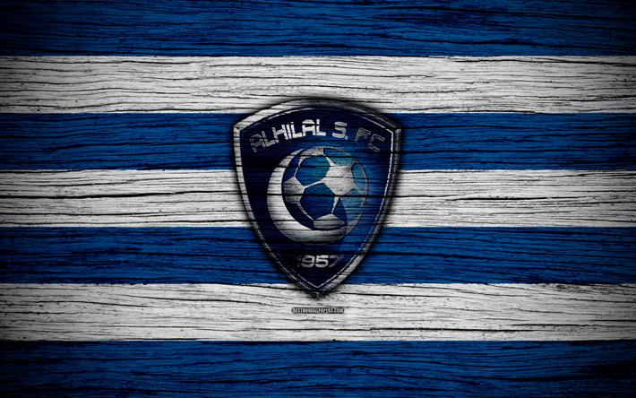 Download Wallpapers 4k Al Hilal Fc Logo Saudi