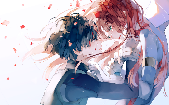 Download Wallpapers Zero Two Hiro Manga Cry Darling In