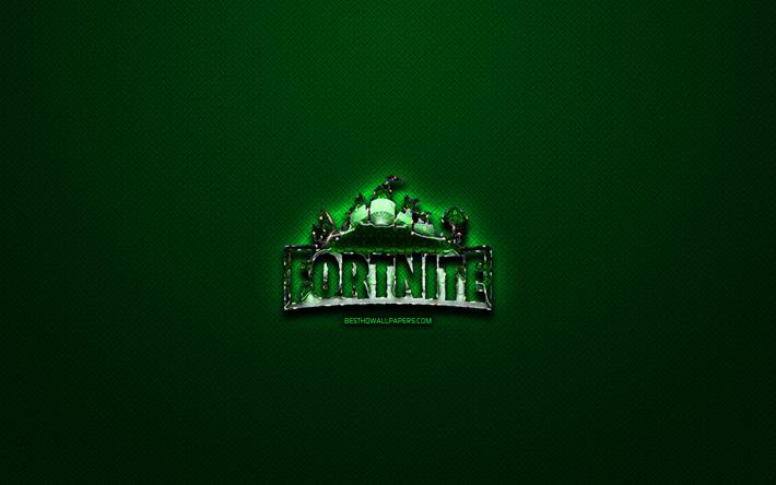 Scarica Sfondi Fortnite Logo Verde Verde Vintage Sfondo Arte