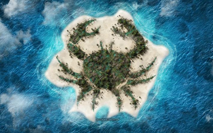 thumb2 cancer zodiac sign tropical island ocean cancer horoscope sign creative art