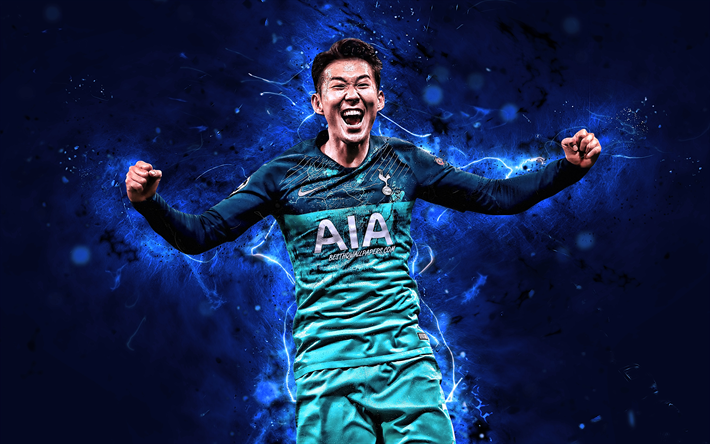 Download Wallpapers 4k, Son Heung-min, Joy, Tottenham