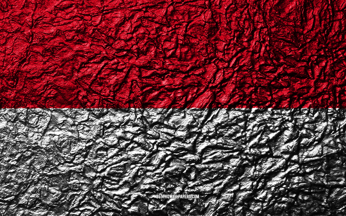 thumb2 flag of indonesia 4k stone texture waves texture indonesia flag