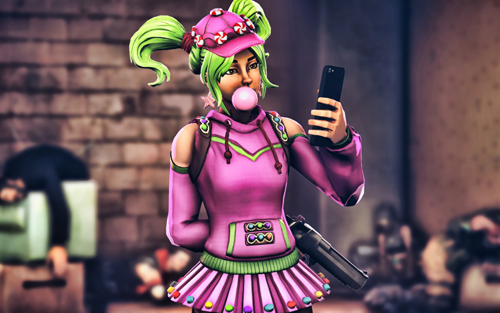 4k, Zoey, les personnages féminins, Fortnite Battle Royale, 2019 jeux, Fortnite, Zoey Fortnite