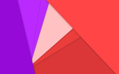 material design, violet and red, colorful triangles, geometric shapes, lollipop, triangles, creative, strips, geometry, colorful backgrounds