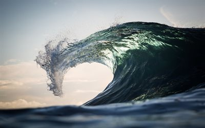 big wave, storm, ocean, beautiful wave, wave crest, water power concepts, environment, water