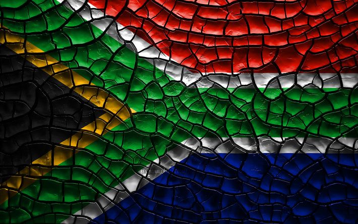 Download Wallpapers Flag Of South Africa 4k Cracked Soil