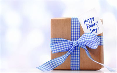 Happy Fathers Day, gift box, Best Father, Fathers Day