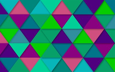 mosaic, 4k, geometry, polygons, abstract textute, triangles, 3d art, geometric shapes