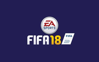 FIFA 18, logo, 2017 games, football simulator