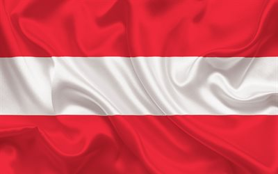 Austrian flag, Austria, flag of Austria, silk fabric