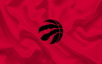 basketball, Toronto Raptors, Basketball club, NBA, Toronto, Canada, Toronto Raptors emblem, logo, red silk