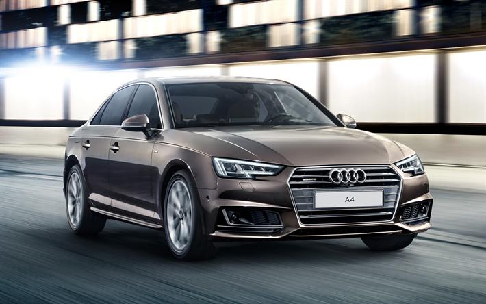 Download Wallpapers Audi A4  Sedans  2017 Cars  Movement