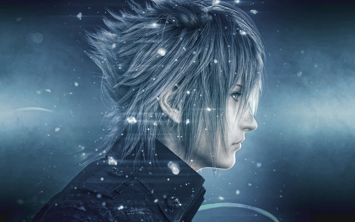 noctis, 4k, charaktere, action, final fantasy xv