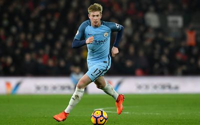 Kevin De Bruyne, 4k, footballers, Manchester City, Premier League, soccer, Man City