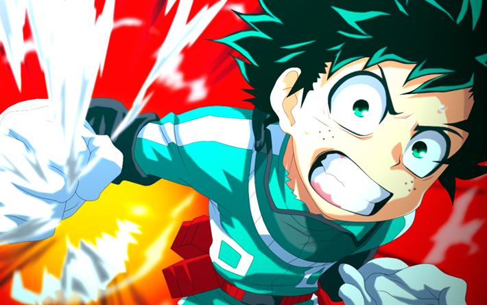Download wallpapers 4k, Izuku Midoriya, art, Boku no Hero ...