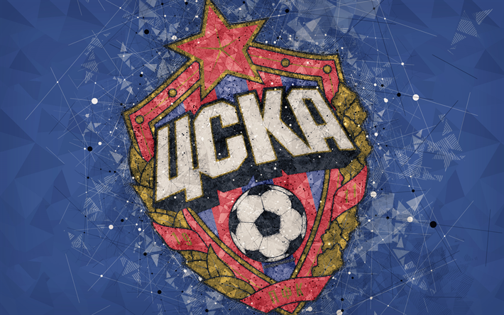 Скачать обои CSKA Moscow FC, 4k, Russian Premier League