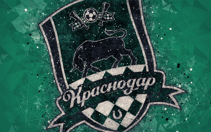 Descargar Fondos De Pantalla Krasnodar Fc 4k Russian Premier League El Logotipo De Creative El Arte Geometrico Con El Emblema De Rusia Futbol Krasnodar Verde Abstracto Antecedentes Fc Krasnodar Libre Imagenes Fondos