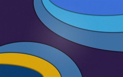 material design, 4k, waves, android, lollipop, lines, geometric shapes, creative, strips, geometry, colorful background, bubbles
