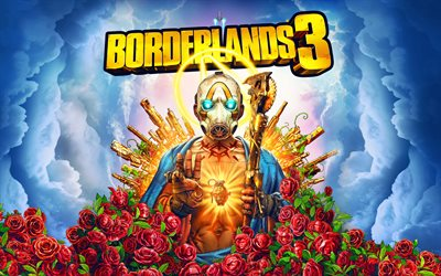 Borderlands 3, 4k, poster, 2019 games, creative, Unreal Engine 4, RPG