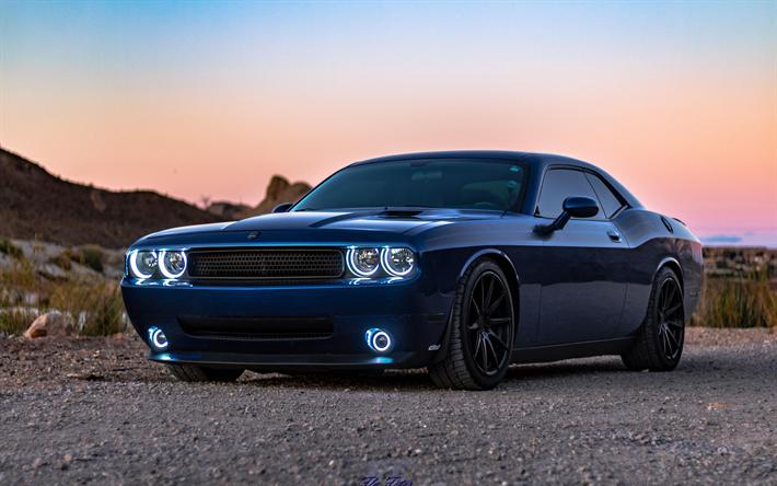 Blue Dodge Challenger >> Lataa Kuva Dodge Challenger Blue Urheilu Coupe Challenger