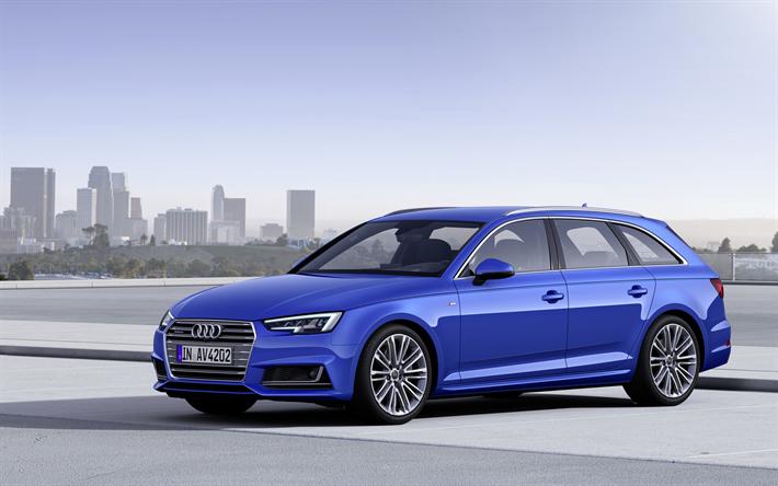 Audi A4 Avant 2017 Tdi Quattro Blue Station Wagon German