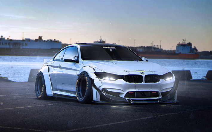 Download Wallpapers Tuning Bmw M4 Coupe 4k Art F82 German Cars Sportcars Bmw For Desktop Free Pictures For Desktop Free