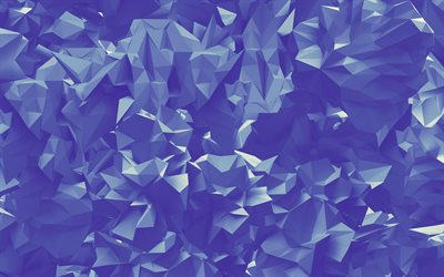 4k, triangles, violet background, creative, geometry