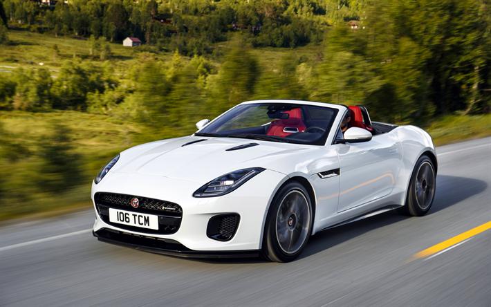 Download Wallpapers Jaguar F Type 4k Movement 2018 Cars