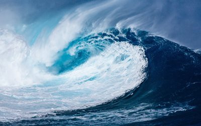 great wave, tsunami, sea, storm, wave