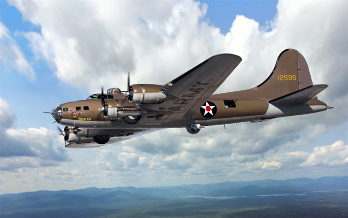Download wallpapers Boeing B-17E, Flying Fortress, USAAF ...
