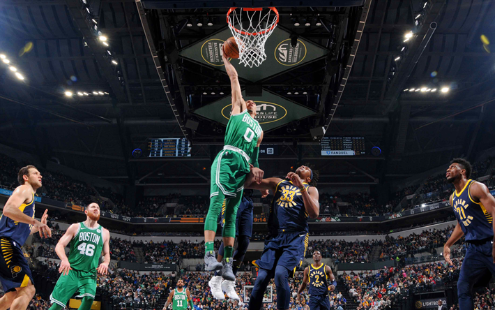 Download Wallpapers 4k Jayson Tatum Dunk Basketball