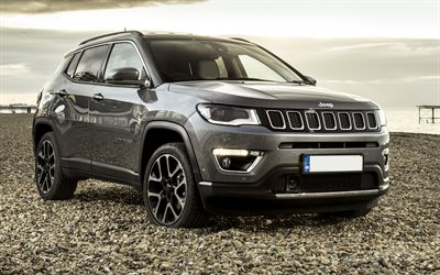Download Wallpapers 4k Jeep Compass Offroad 2018 Cars Suvs 4x4 New Compass Jeep For Desktop Free Pictures For Desktop Free