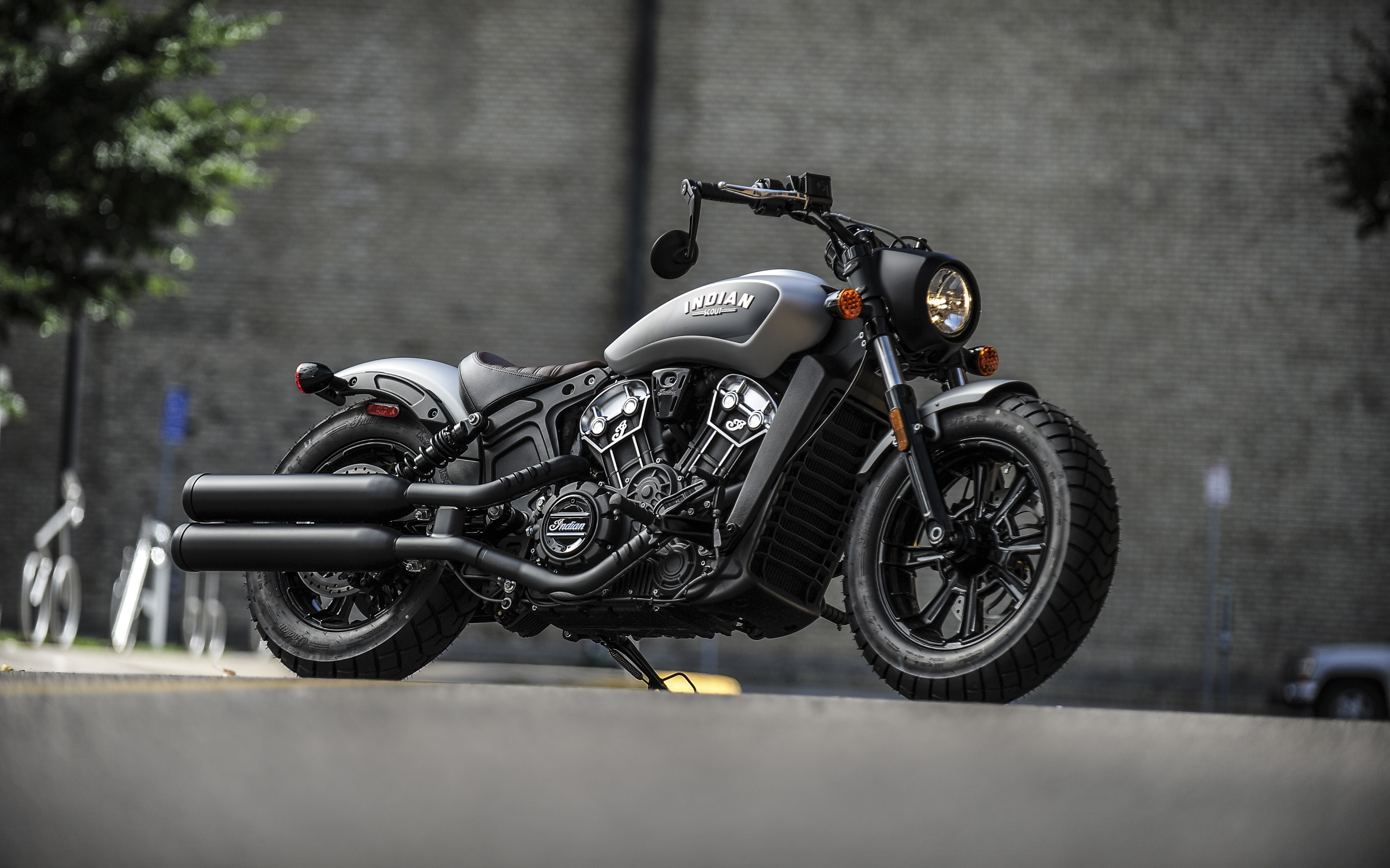Download Wallpapers Indian Scout Bobber 2018 Thunder