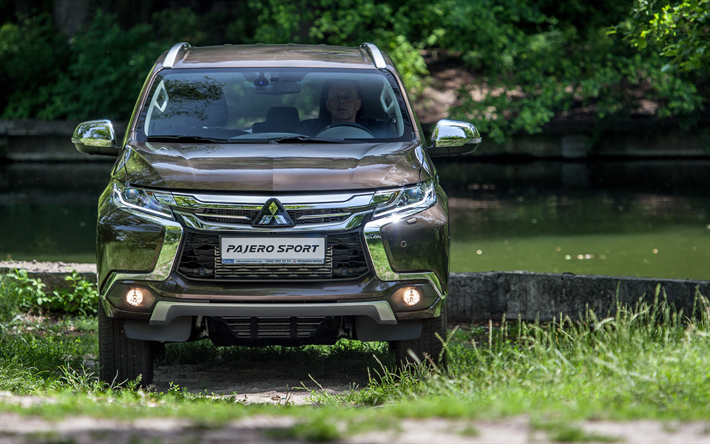 Attractive 4k, Mitsubishi Pajero Sport, 2018 Cars, Offroad, SUVs, Mitsubishi