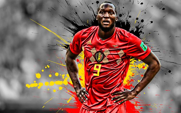 Download Wallpapers Romelu Lukaku Belgium National Football