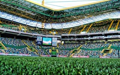 Download wallpapers Sporting Stadium, HDR, Estadio Jose Alvalade, empty stadium, football ...
