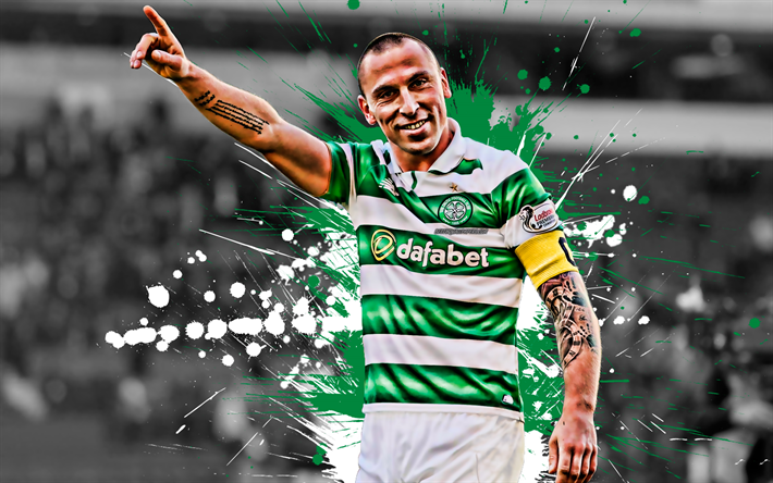 Download wallpapers Scott Brown, 4k, Scottish football ...