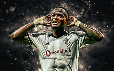 Cyle Larin, goal, Besiktas FC, Canadian footballers, soccer, Larin, Turkish Super Lig, BJK, football, neon lights, Besiktas JK