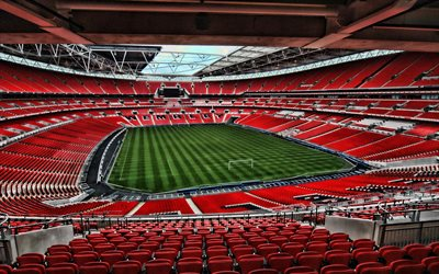 Download wallpapers Old Trafford, empty stadium, soccer ...
